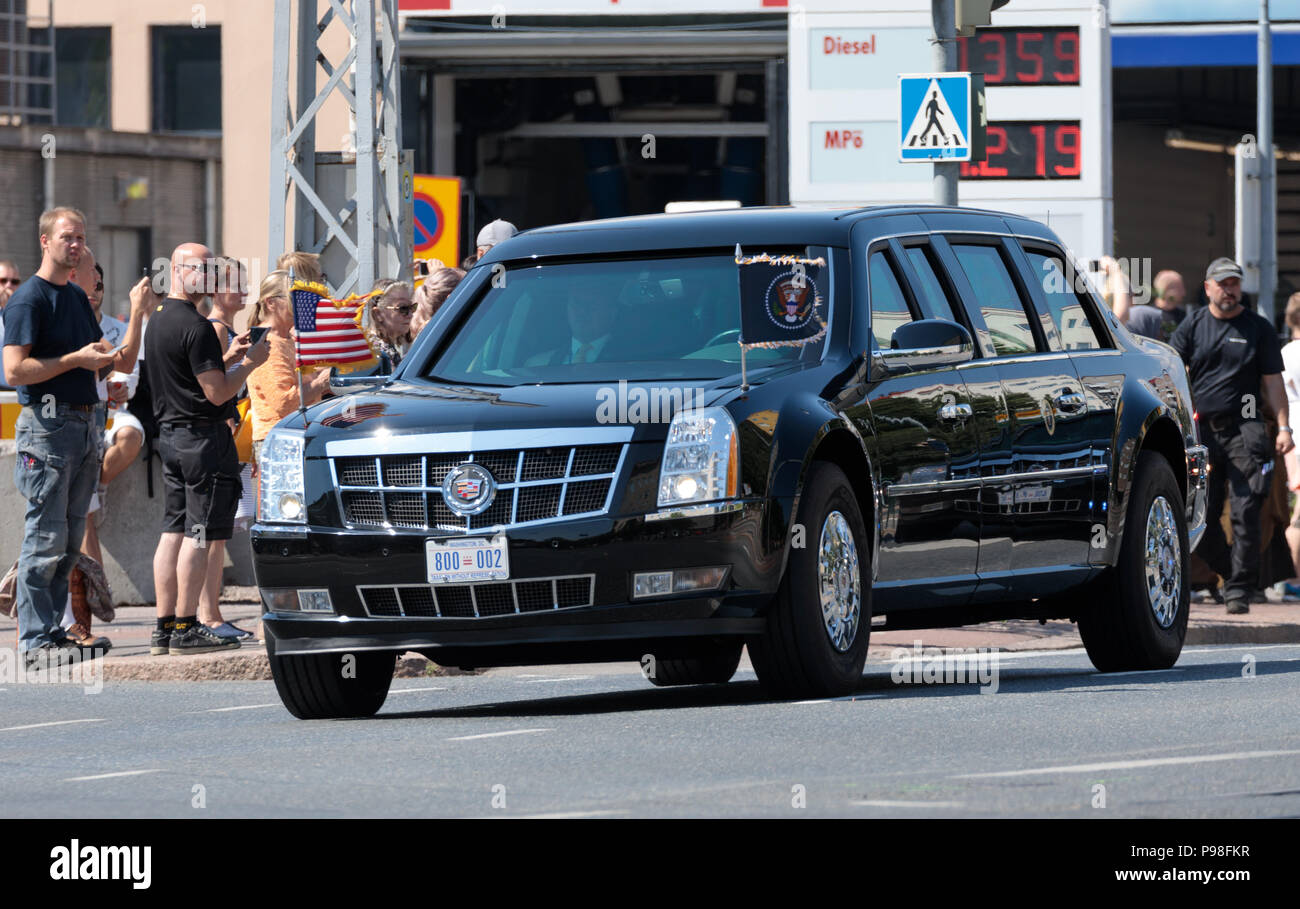 Helsinki, Finland. 16th July 2018. Cadillac limousine \