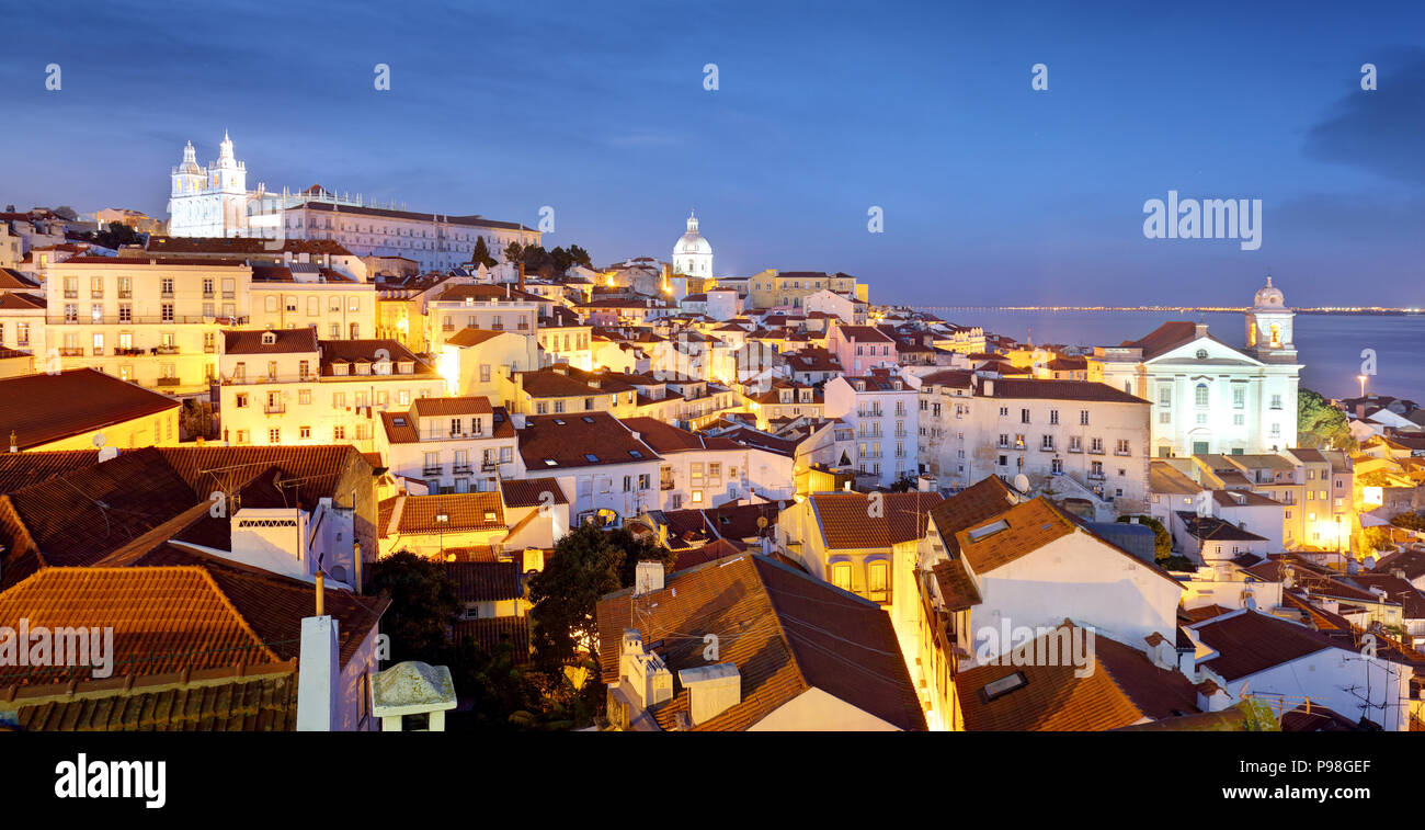Portugal, Lisbon - Old city Alfama - Stock Image