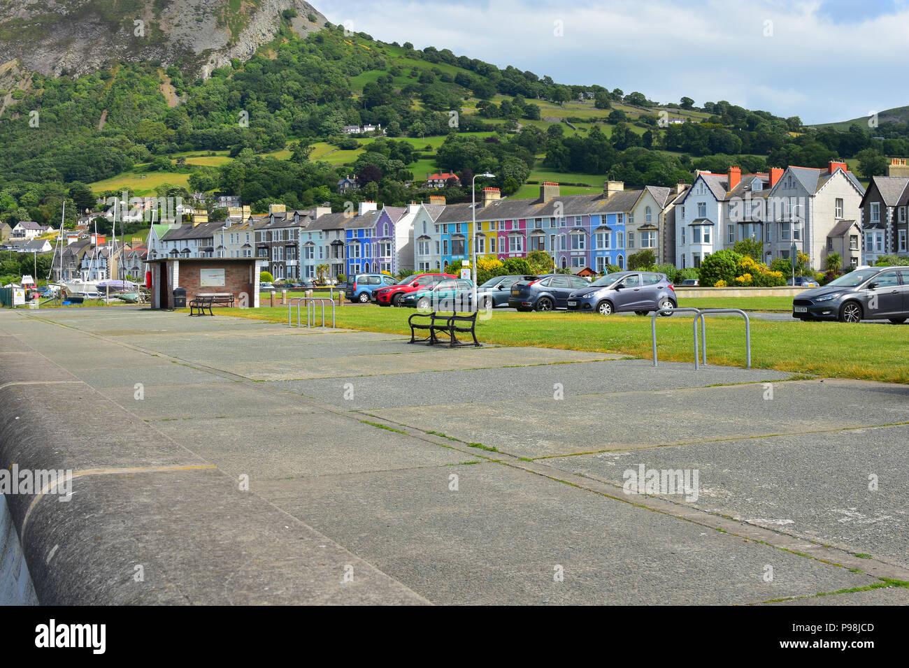 Llanfairfechan promenade, North Wales, UK - Stock Image