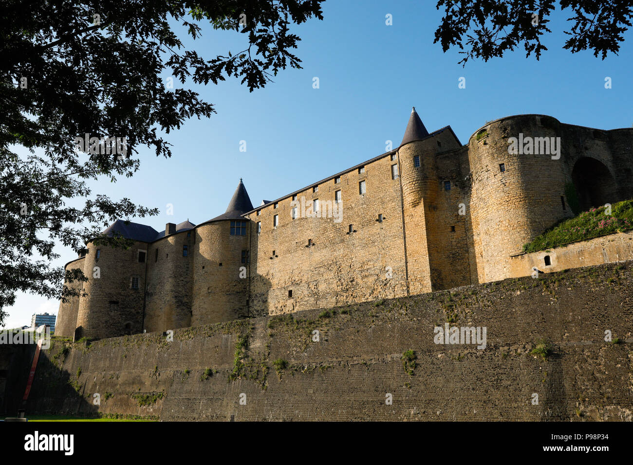 Sedan castle, known locally as Chateau Fort de Sedan, in the Ardennes department, northern France. - Stock Image