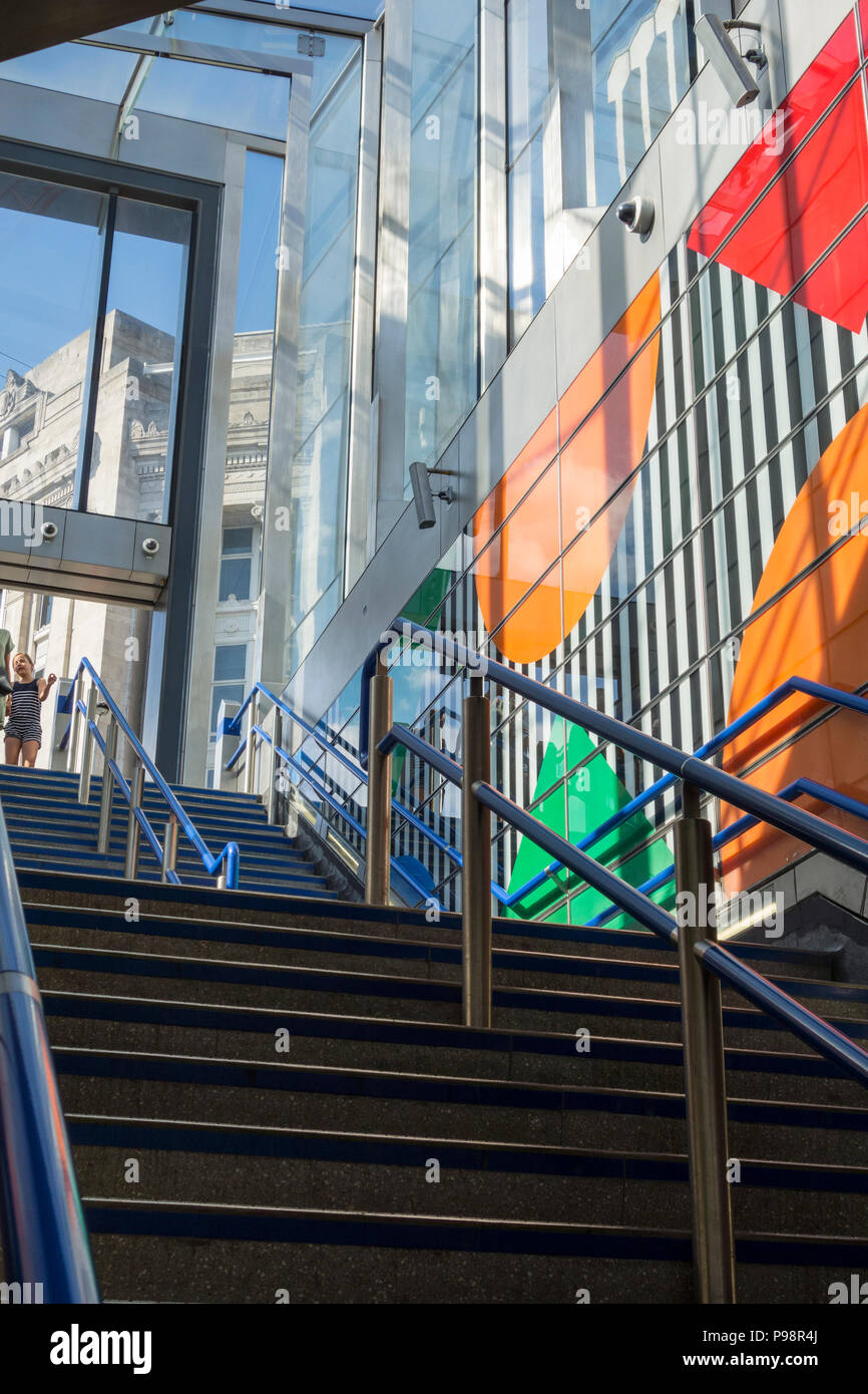 Daniel Buren S Diamonds And Circles Conceptual Art Tottenham Court Road Underground Station London Uk Stock Photo Alamy