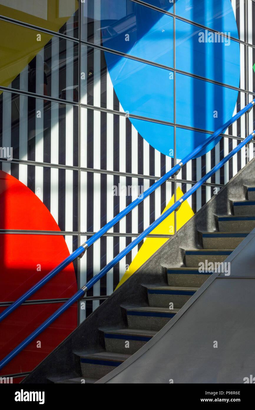 Daniel Buren S Diamonds And Circles Conceptual Art At Tottenham Court Road Underground Station London Uk Stock Photo Alamy