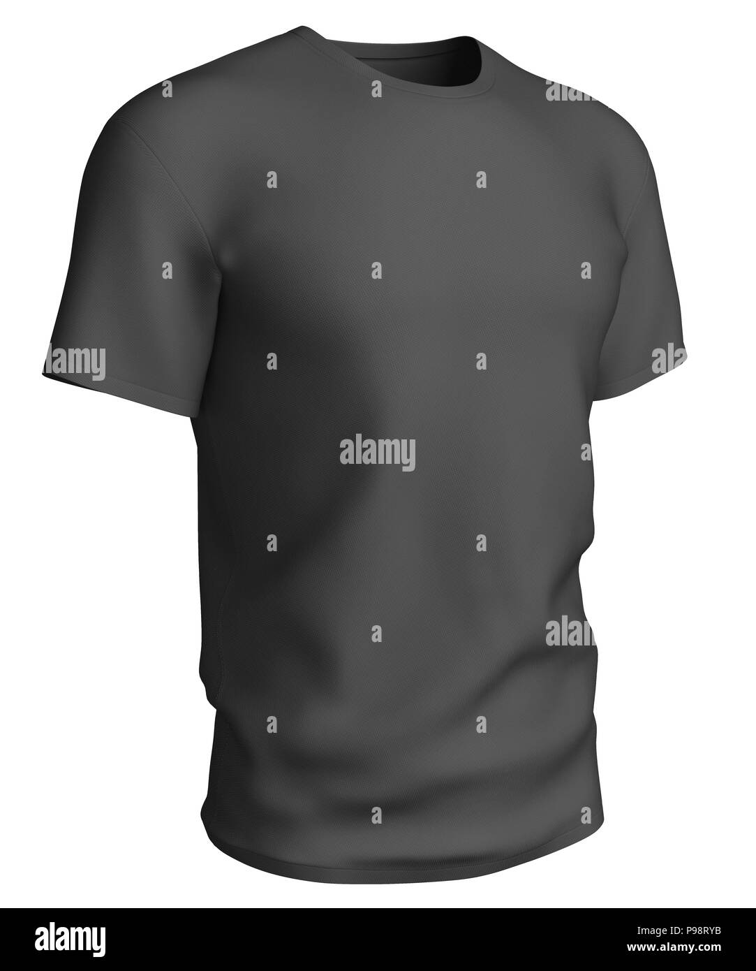 Man Black T Shirt Design Template Isolated On White Background