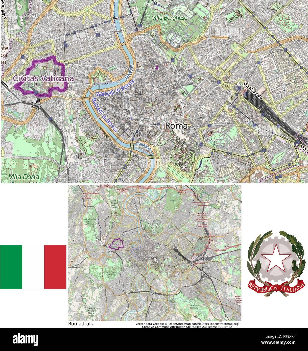 Italy Rome Vatican City - Stock Vector