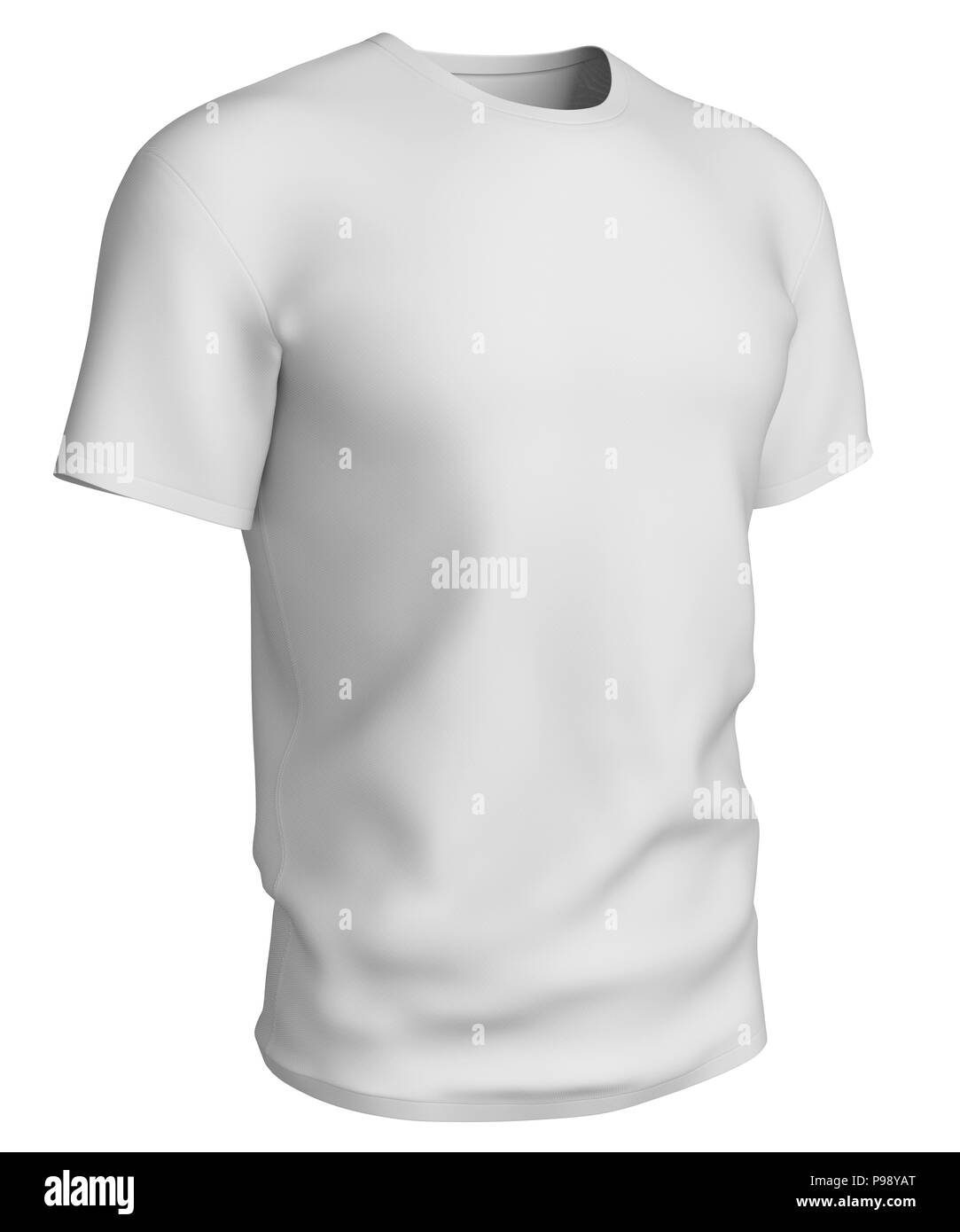 Man White T Shirt Design Template Isolated On White Background