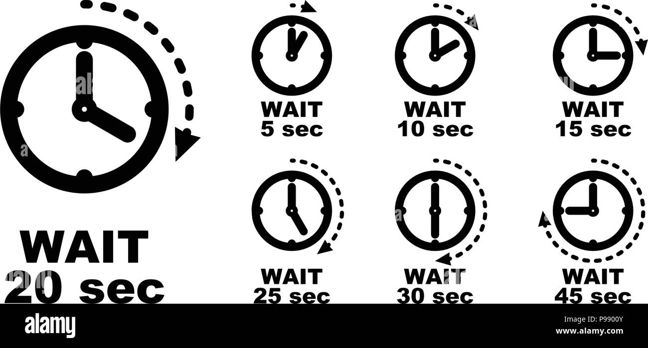 wait pause period of passing time icon simple clock symbol with