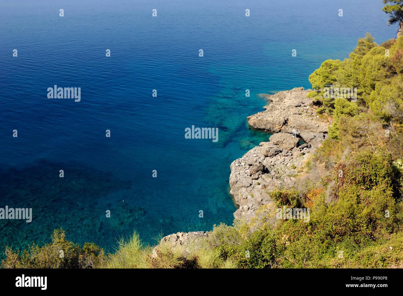 italy, basilicata, maratea, acquafredda Stock Photo