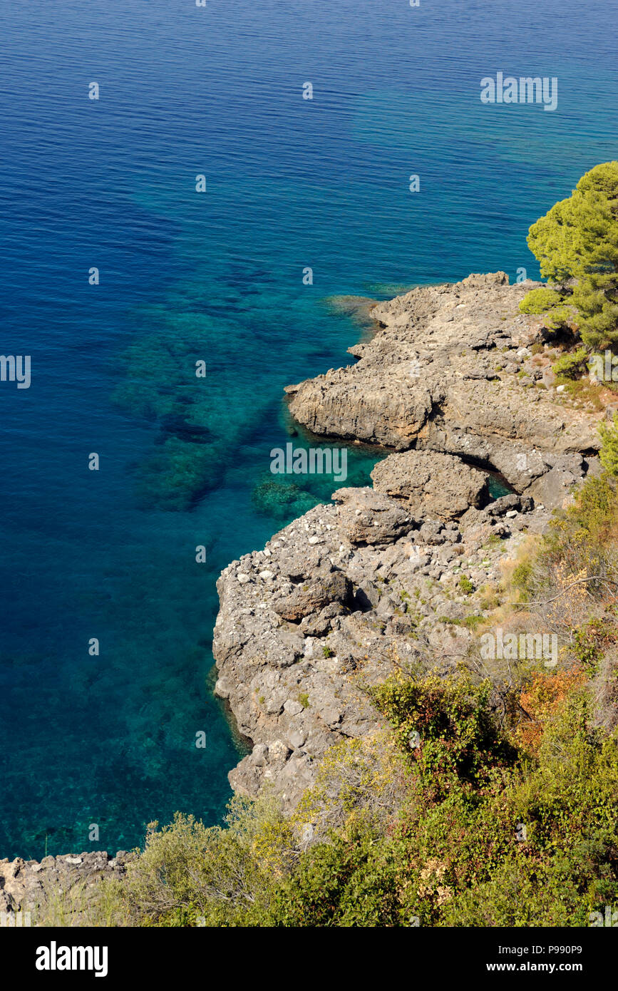 italy, basilicata, maratea, acquafredda Stock Photo