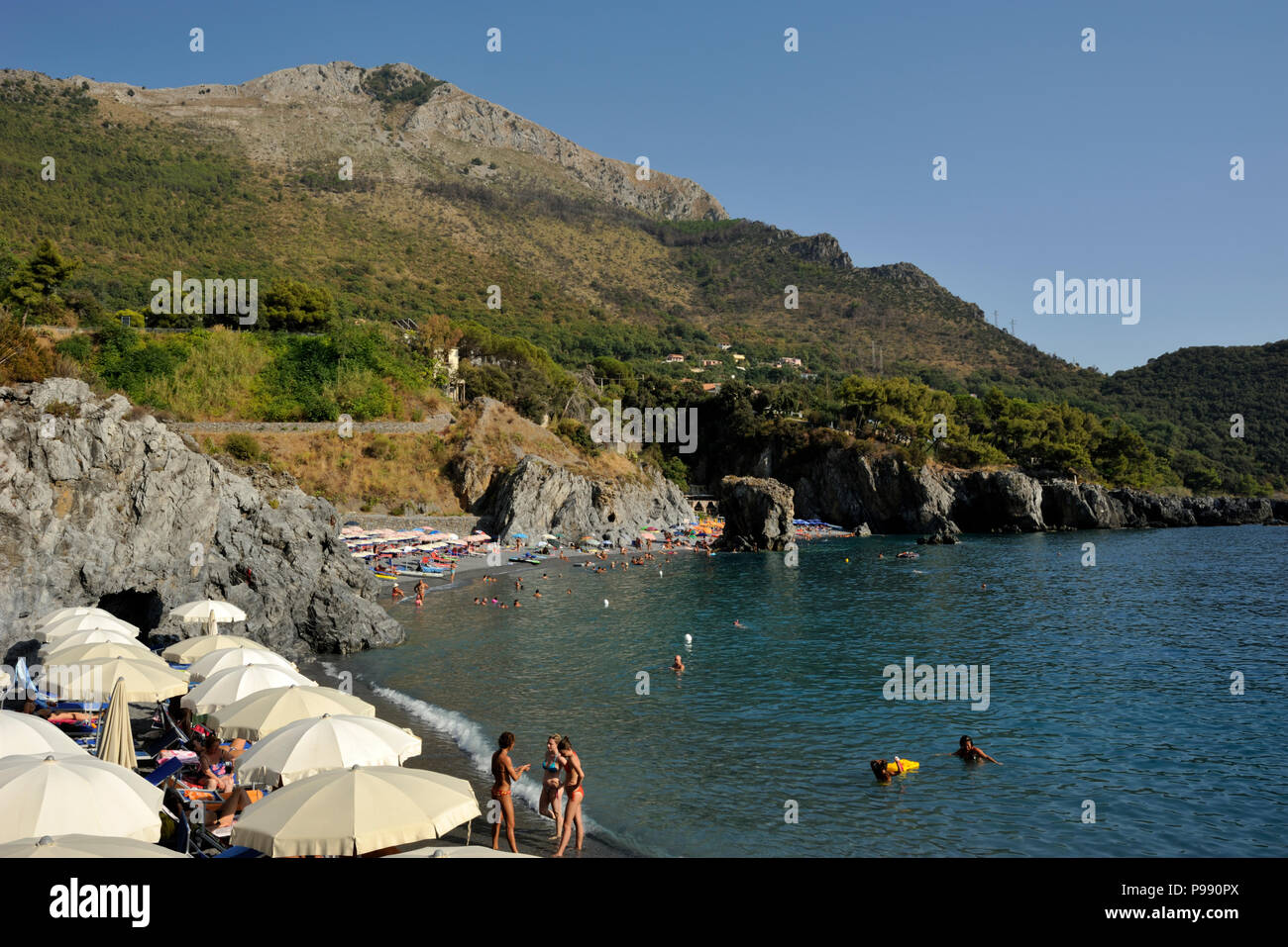italy, basilicata, maratea, santa teresa beach Stock Photo