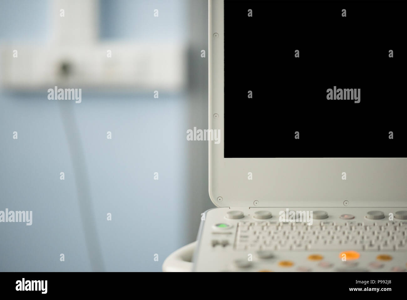 Black screen of the ultrasonic device, there is no image on the monitor. - Stock Image