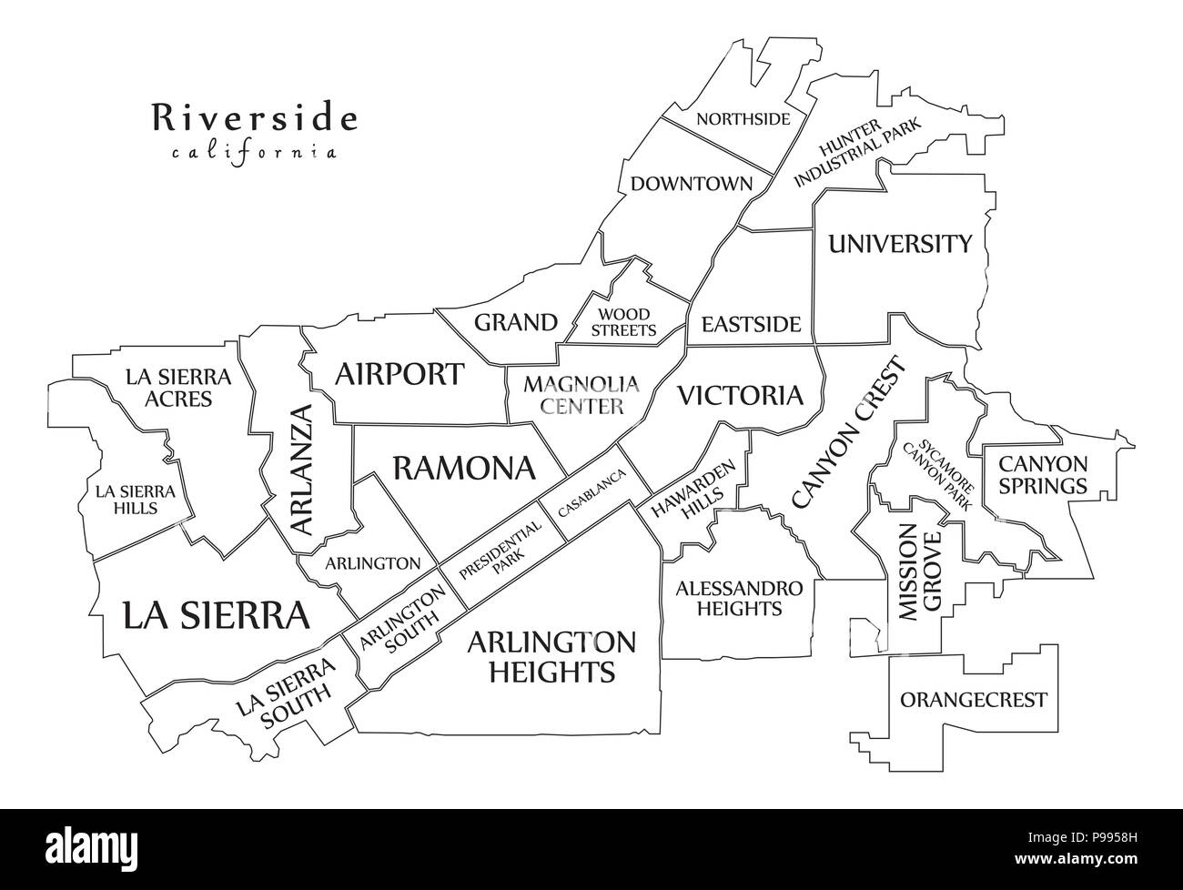 Modern City Map - Riverside California city of the USA with ... on lancaster map outline, chico map outline, inglewood map outline, fullerton map outline, san francisco map outline, washington and oregon map outline, usa map outline, inyo county map outline, avalon map outline,