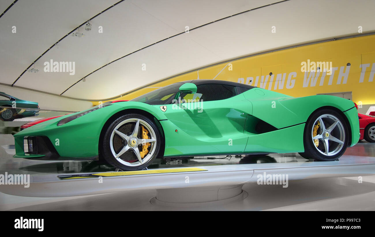 Modena Italy July 21 2017 Ferrari Laferrari In The Enzo Ferrari Museum In Modena Italy It Was A Part Of Exhibition Driving With The Stars The Stock Photo Alamy