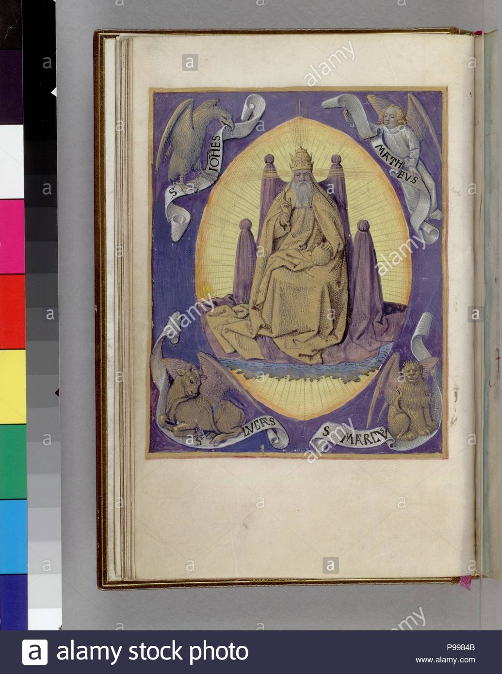 God The Father With Symbols Of The Four Evangelists In The Corners