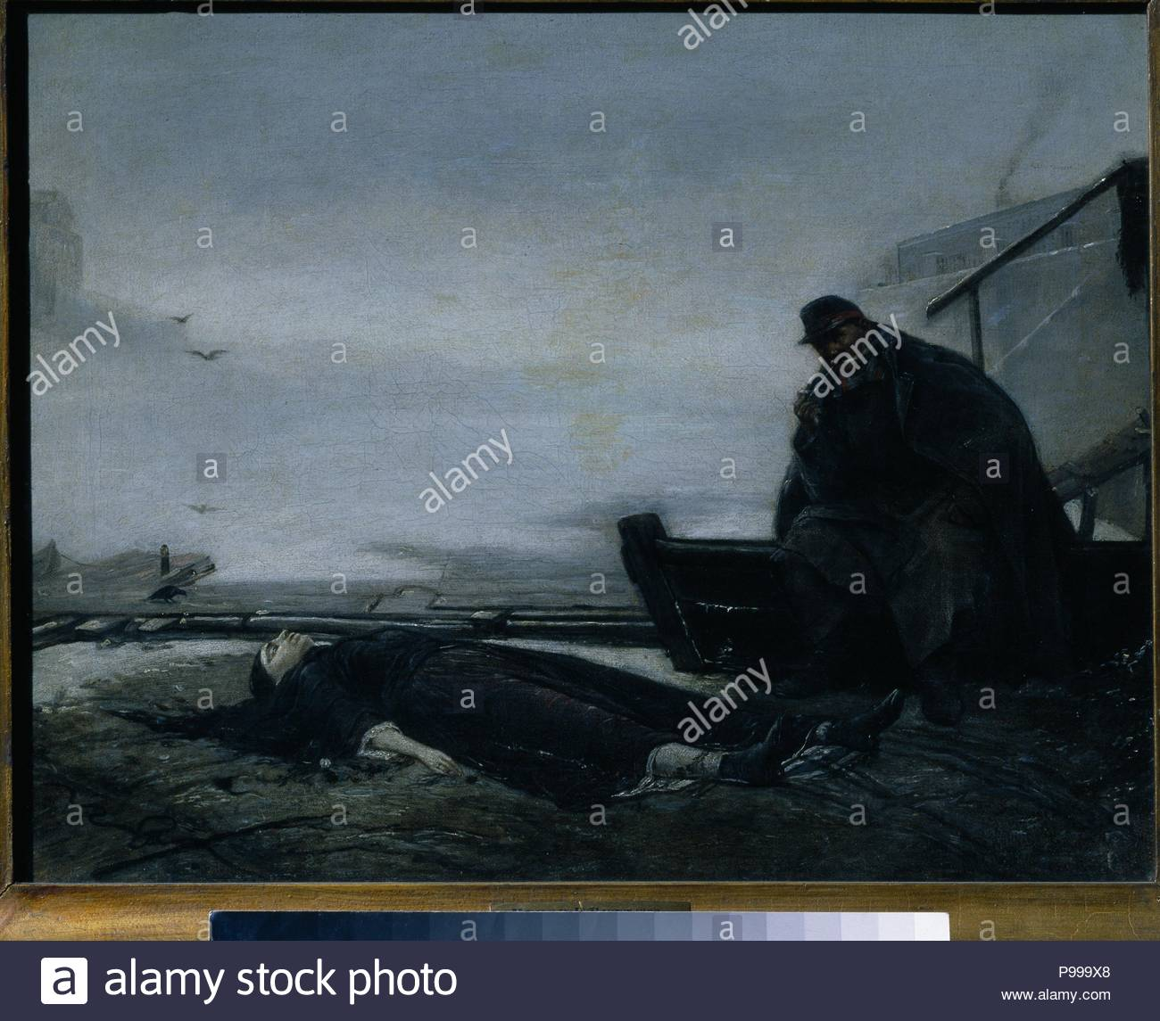 The Drowned. Museum: State Tretyakov Gallery, Moscow. - Stock Image
