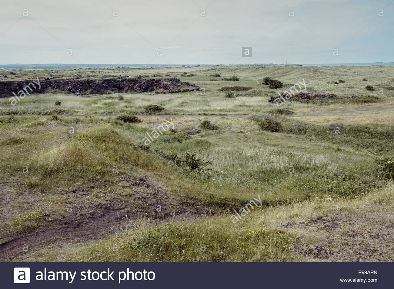 Paddy's Hole, South Gare, Hartlepool - Stock Image