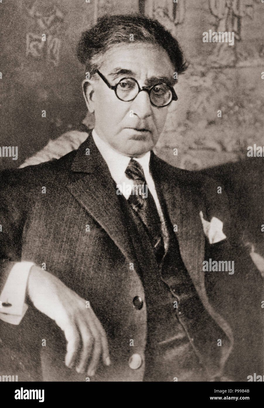 Constantine Peter Cavafy, aka Konstantin or Konstantinos Petrou Kavafis, 1863 –1933.   Egyptian Greek poet, journalist and civil servant.  After a contemporary print. - Stock Image