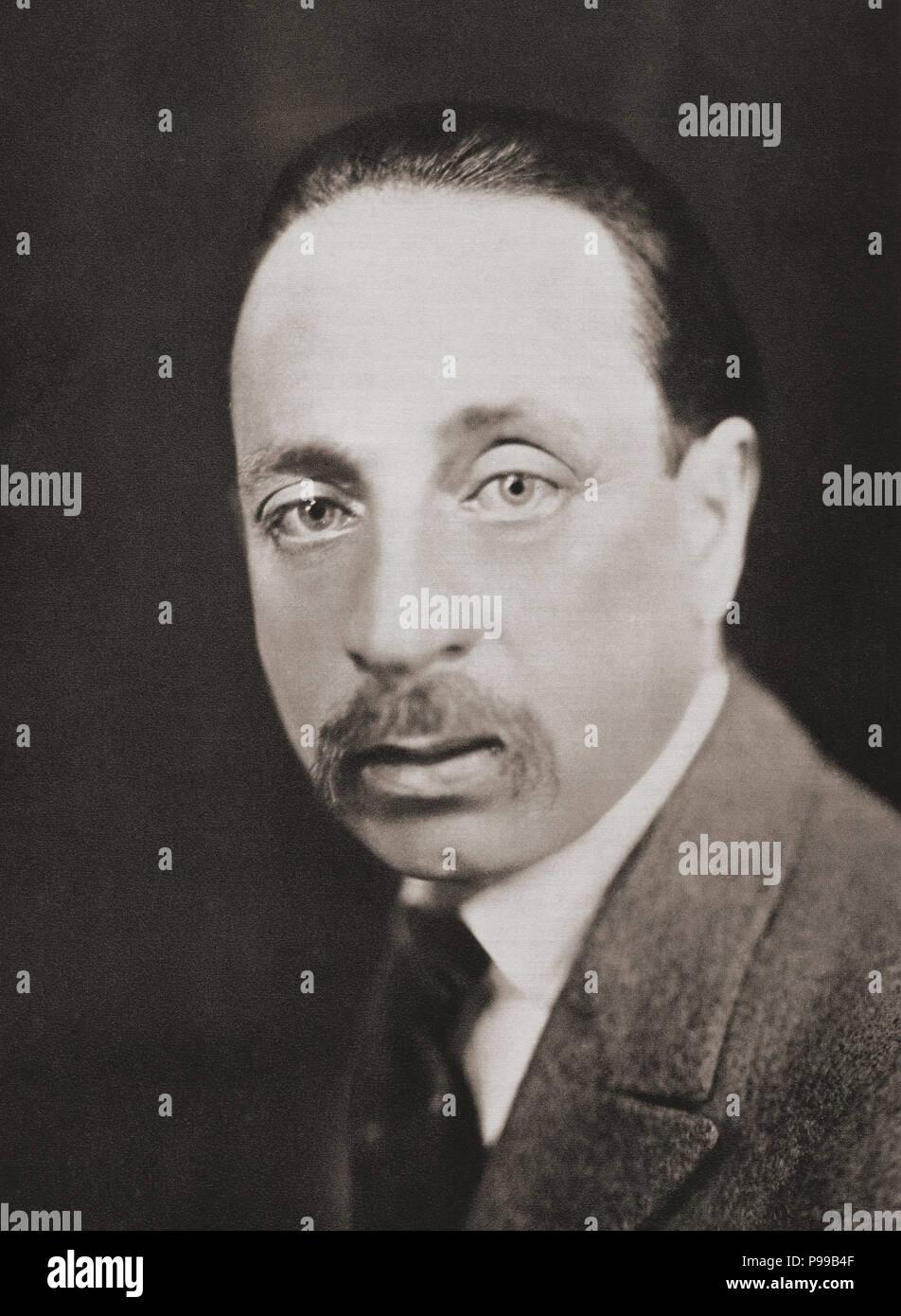 René Karl Wilhelm Johann Josef Maria Rilke, 1875 – 1926, aka  Rainer Maria Rilke.  Bohemian-Austrian poet and novelist.  After a contemporary print. - Stock Image