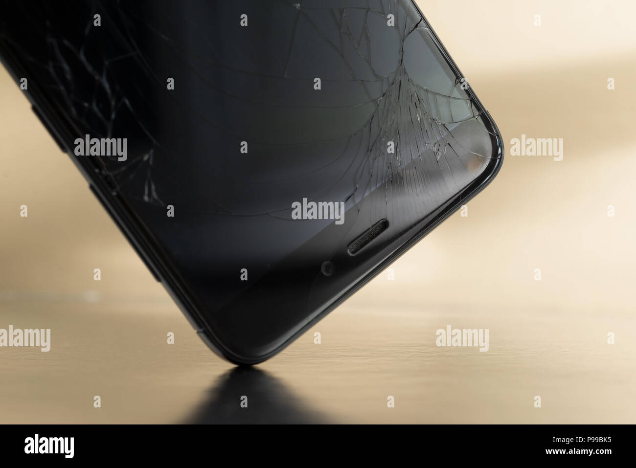 Minsk Belarus Jule 13 2018 Shattered Display Of The Phone Xiaomi Redmi 3 Pro During A Fall To Floor At Shopping Center In