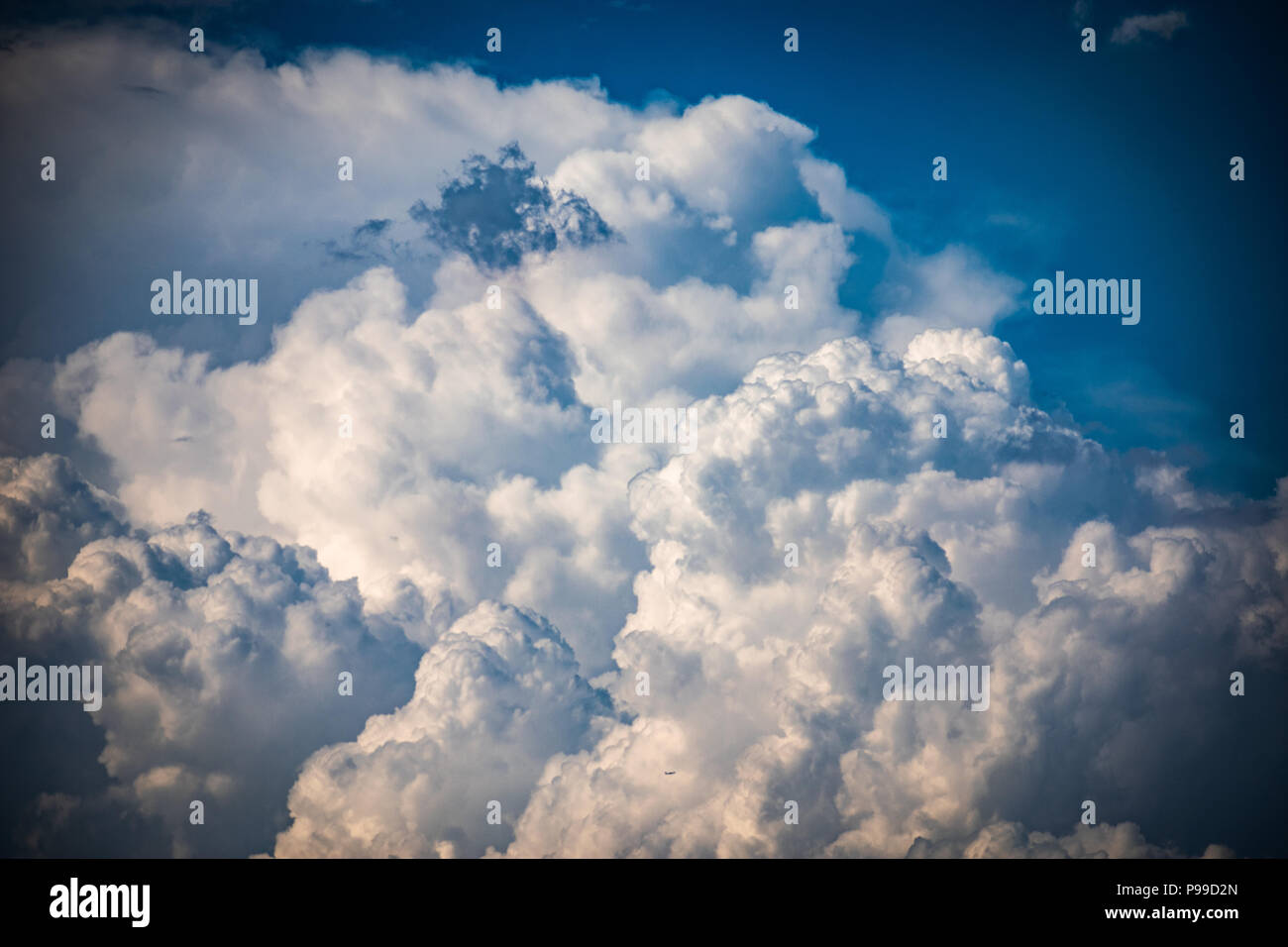 Las Vegas, NV - White Fluffy Clouds High In The Sky - Stock Image