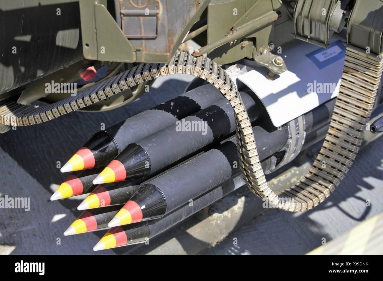 70mm rockets - Stock Image