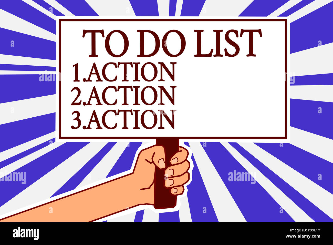 text sign showing to do list 1 action 2 action 3 action conceptual