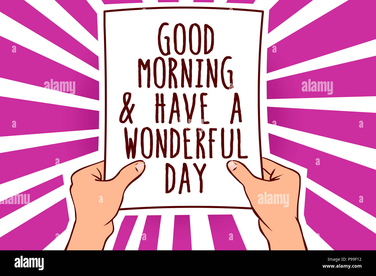 Text Sign Showing Good Morningand Have A Wonderful Day Conceptual