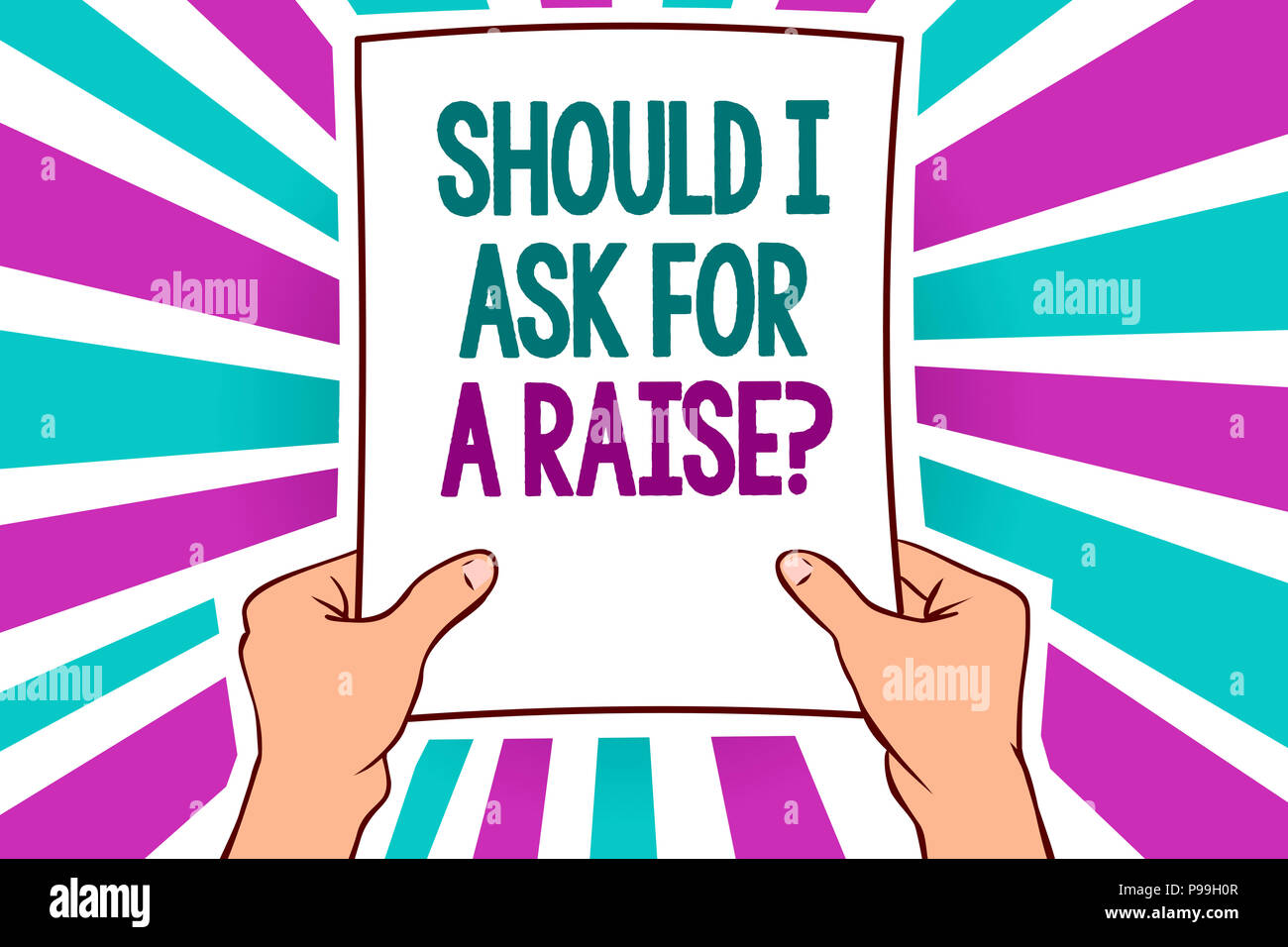 Word writing text Should I Ask For A Raise question Business