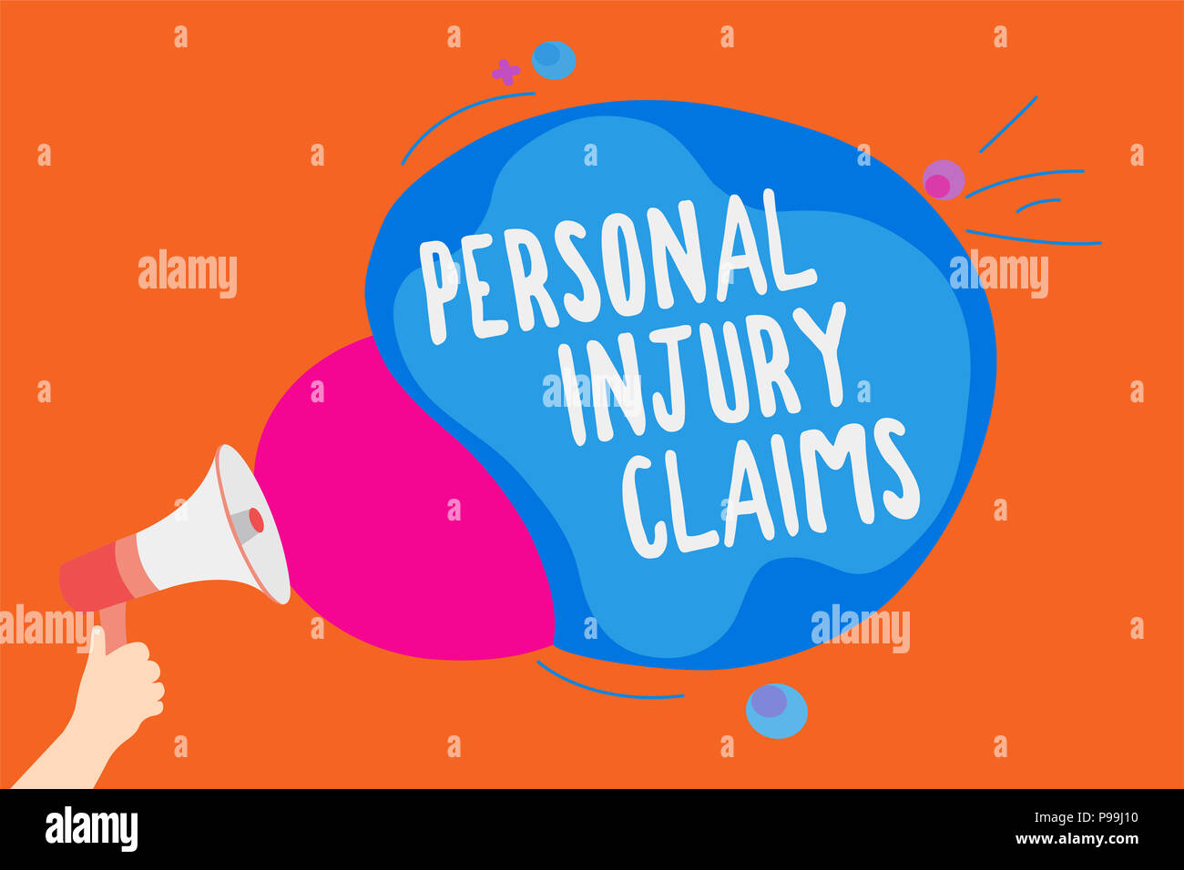 Writing note showing Personal Injury Claims  Business photo