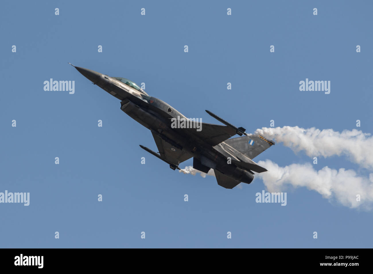 greek f16 fighting falcon at the royal international air tattoo 2018 - Stock Image