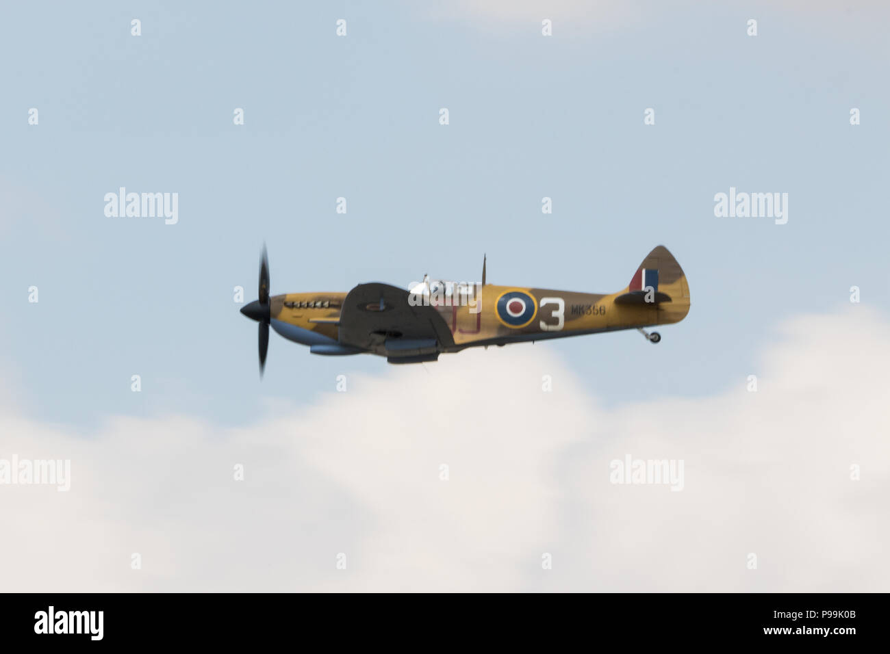 Supermarine spitfire at The Royal International Air Tattoo at RAF Fairford, England. Stock Photo