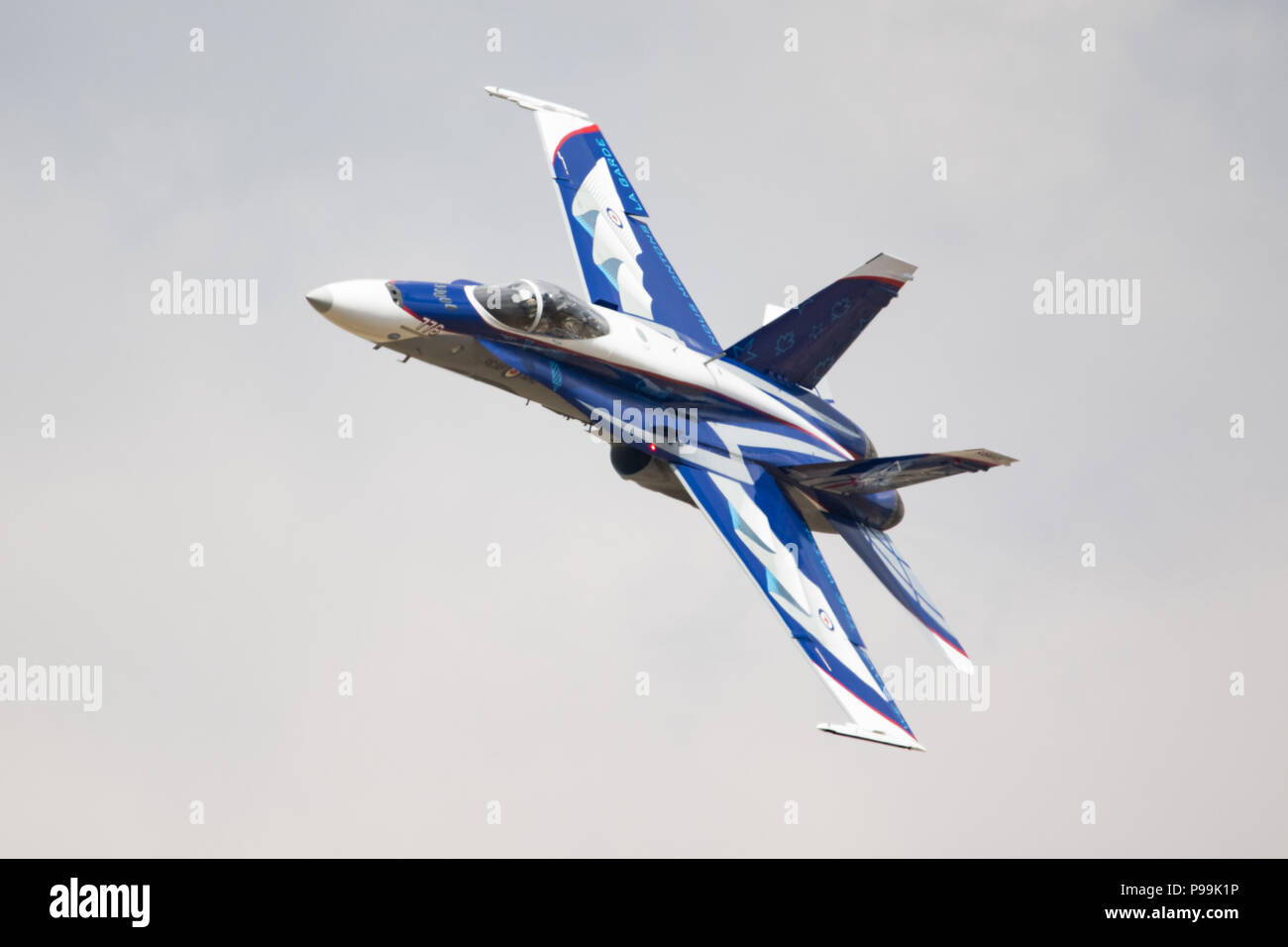 Boeing F/A 18C Hornet of the Swiss Air Force at The Royal International Air Tattoo at RAF Fairford, England. - Stock Image