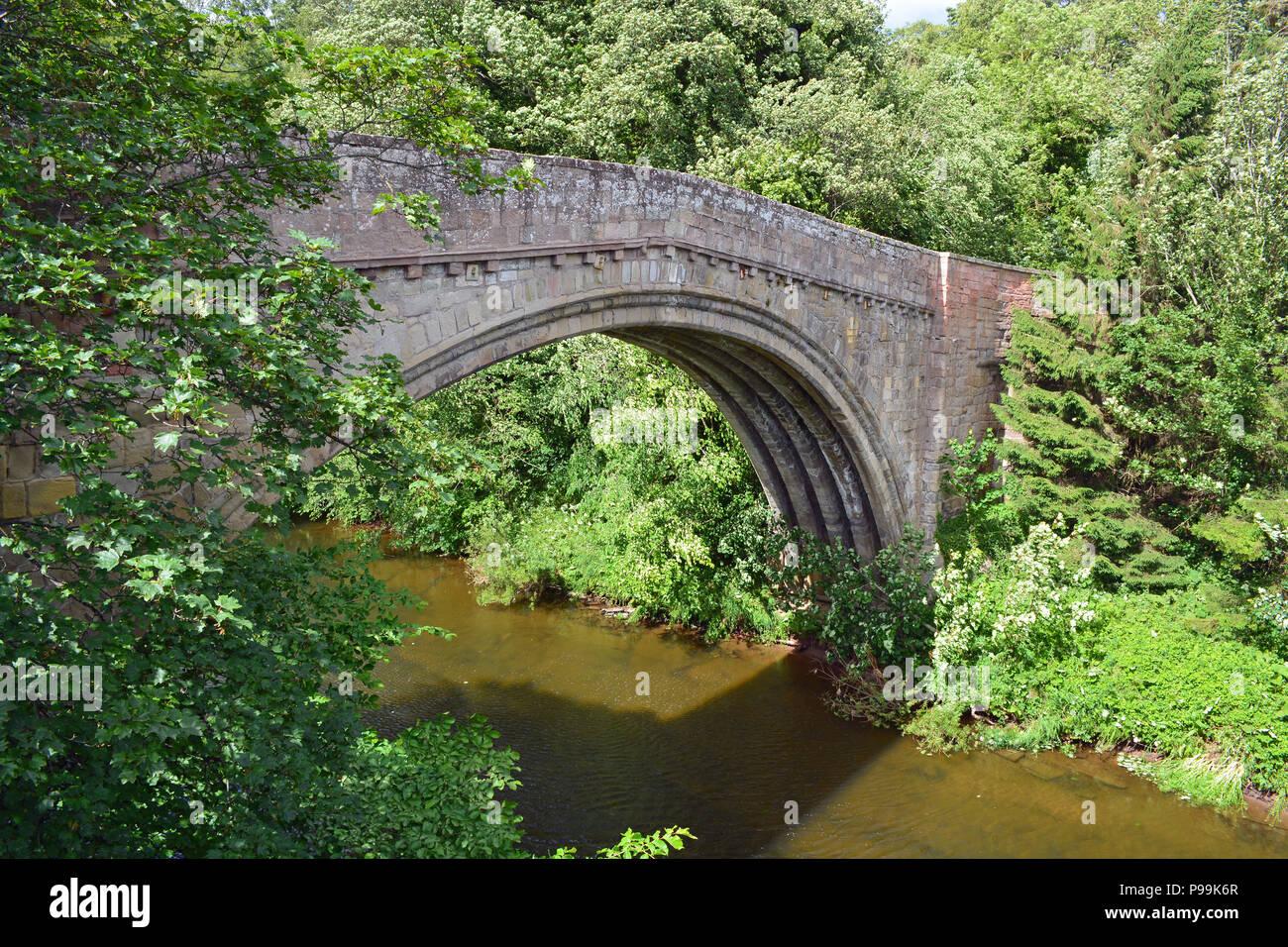 Twizel Bridge, Northumberland - Stock Image