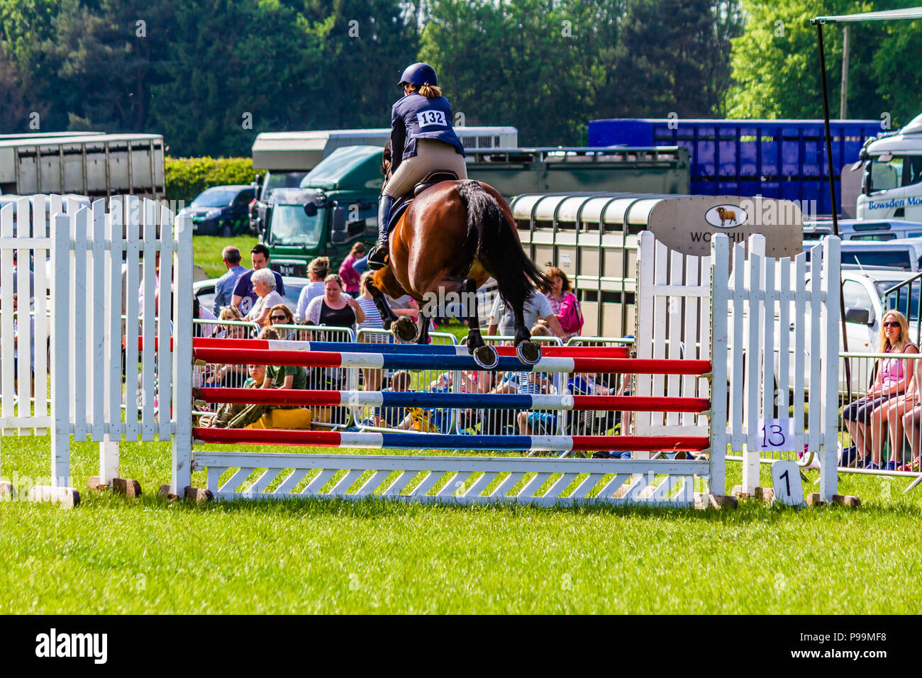 Show jumping at Northumberland County Show, 2018. - Stock Image