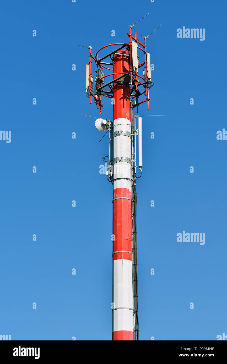 Mobile Phone Mast, Communications Tower - Stock Image