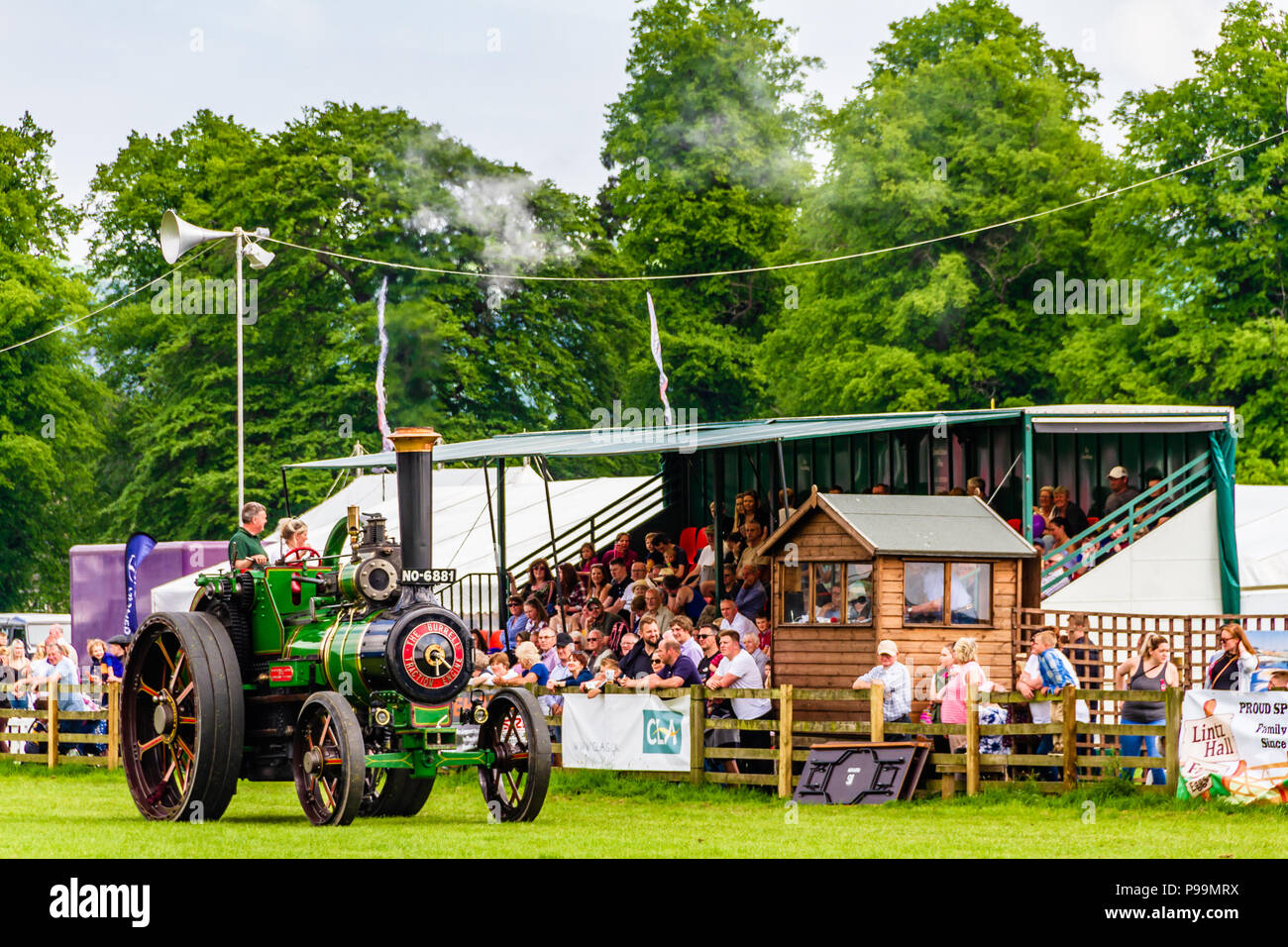 The Victorian steam engine 'Duke of Ongar' on display at the Northumberland County Show, Stocksfield. May 2018. - Stock Image