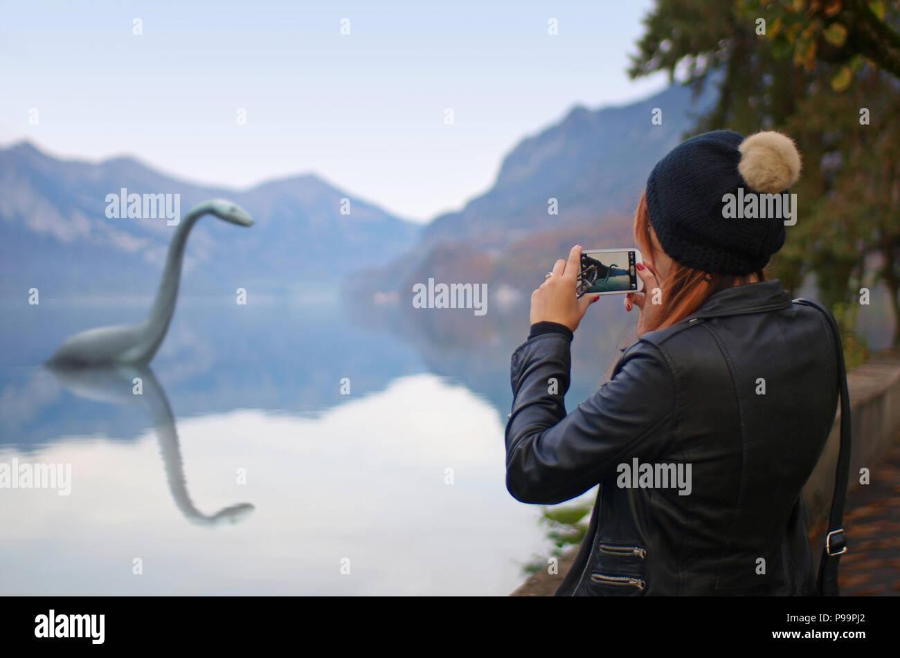 Nessie - the Loch Ness Monster Stock Photo