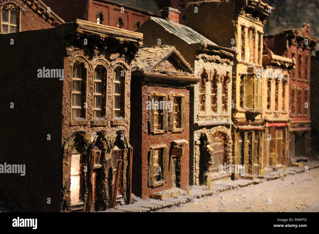 Miniature town at the Children's Museum at Indianapolis, Indiana. - Stock Image