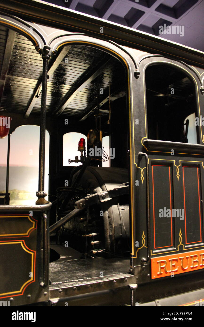 Train exhibit at the Children's Museum at Indianapolis, Indiana. - Stock Image
