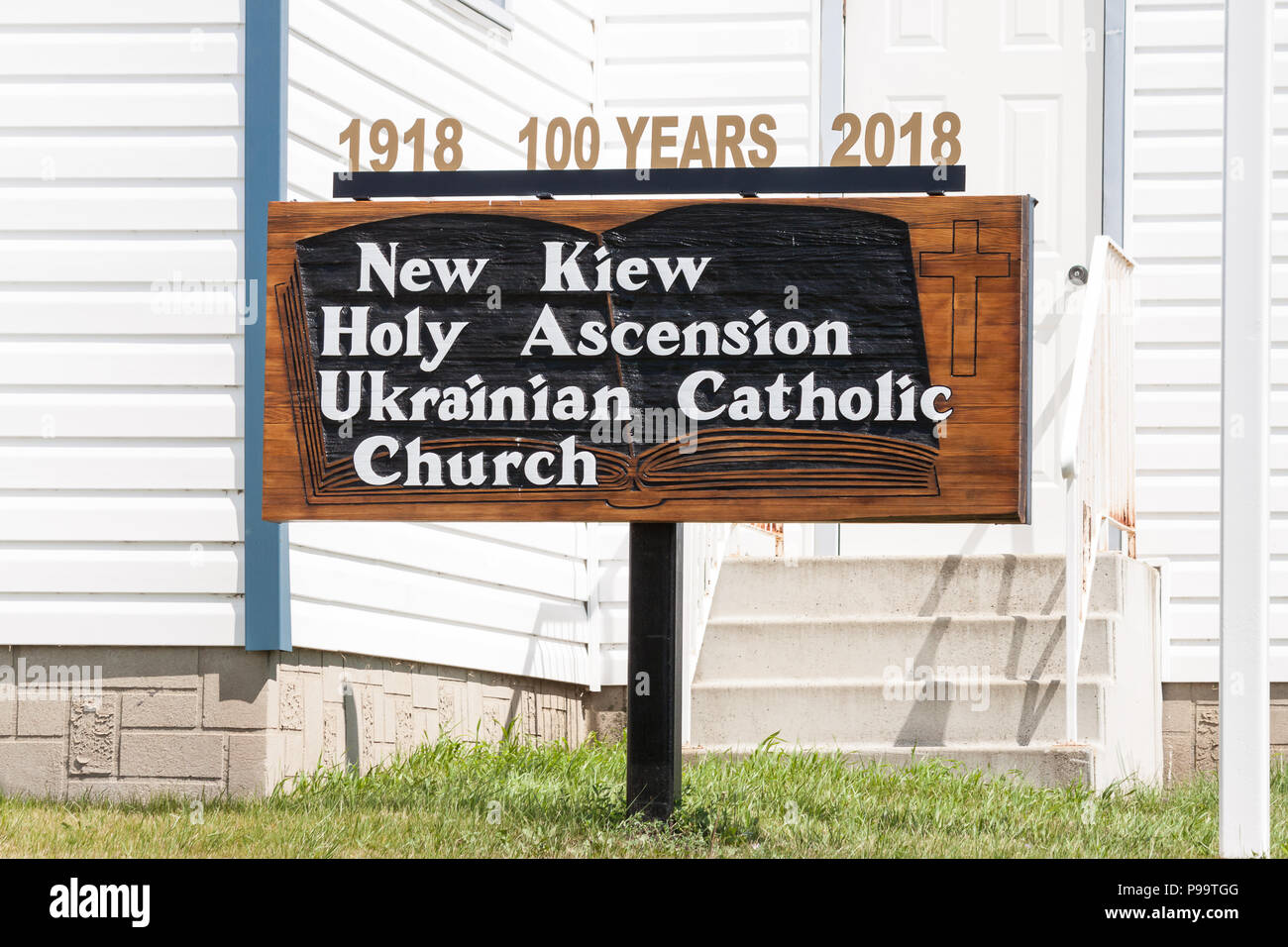 100 year old Ukrainian Catholic Parish, 1918 church - Stock Image