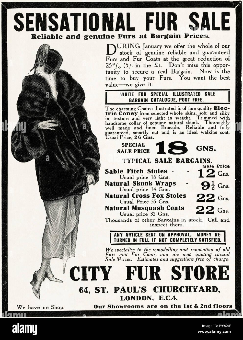 1920s old vintage original advert advertising sensational