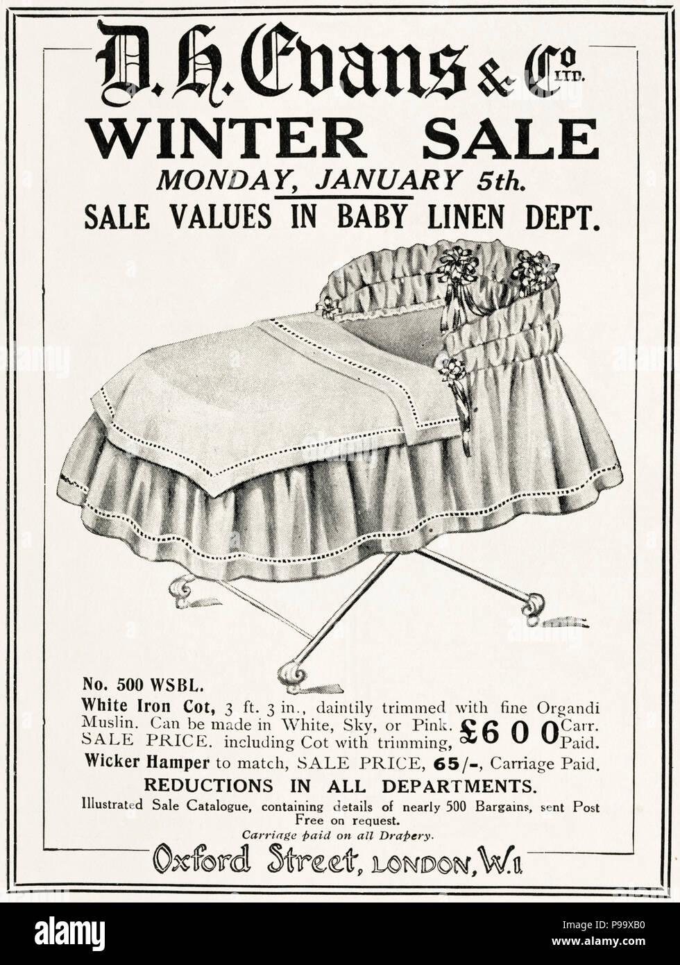 1920s old vintage original advert advertising winter sale of babies