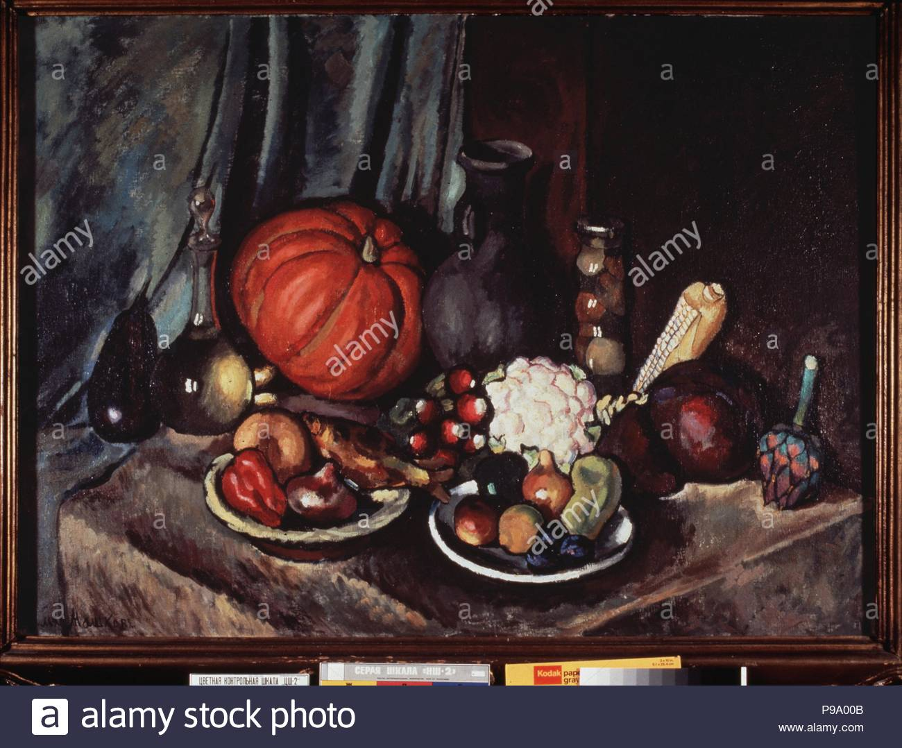 still life with pumpkin and a jug museum private collection