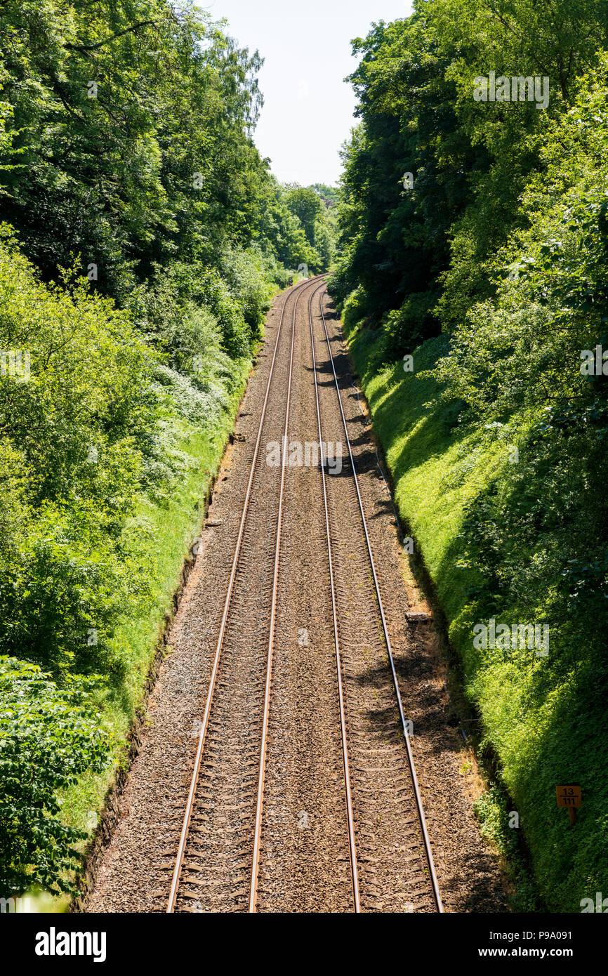 Railway Cutting Stock Photos & Railway Cutting Stock Images