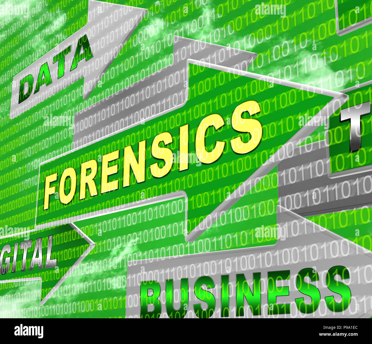 Cyber Forensics Computer Crime Analysis 3d Rendering Shows