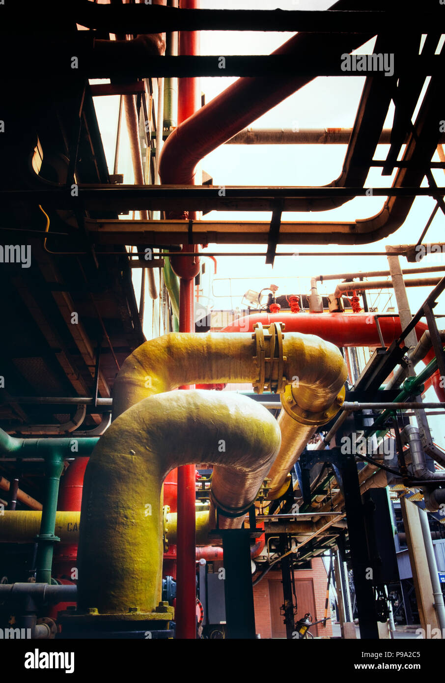 Industrial production of chlorine - Stock Image