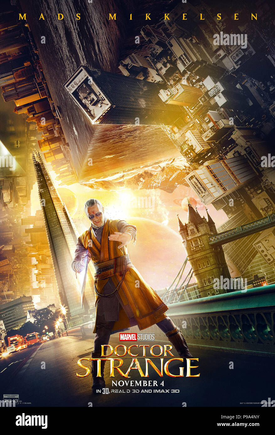 Doctor Strange 2016 Directed By Scott Derrickson Character Poster Showing Kaecilius Played By Mads Mikkelsen Stock Photo Alamy