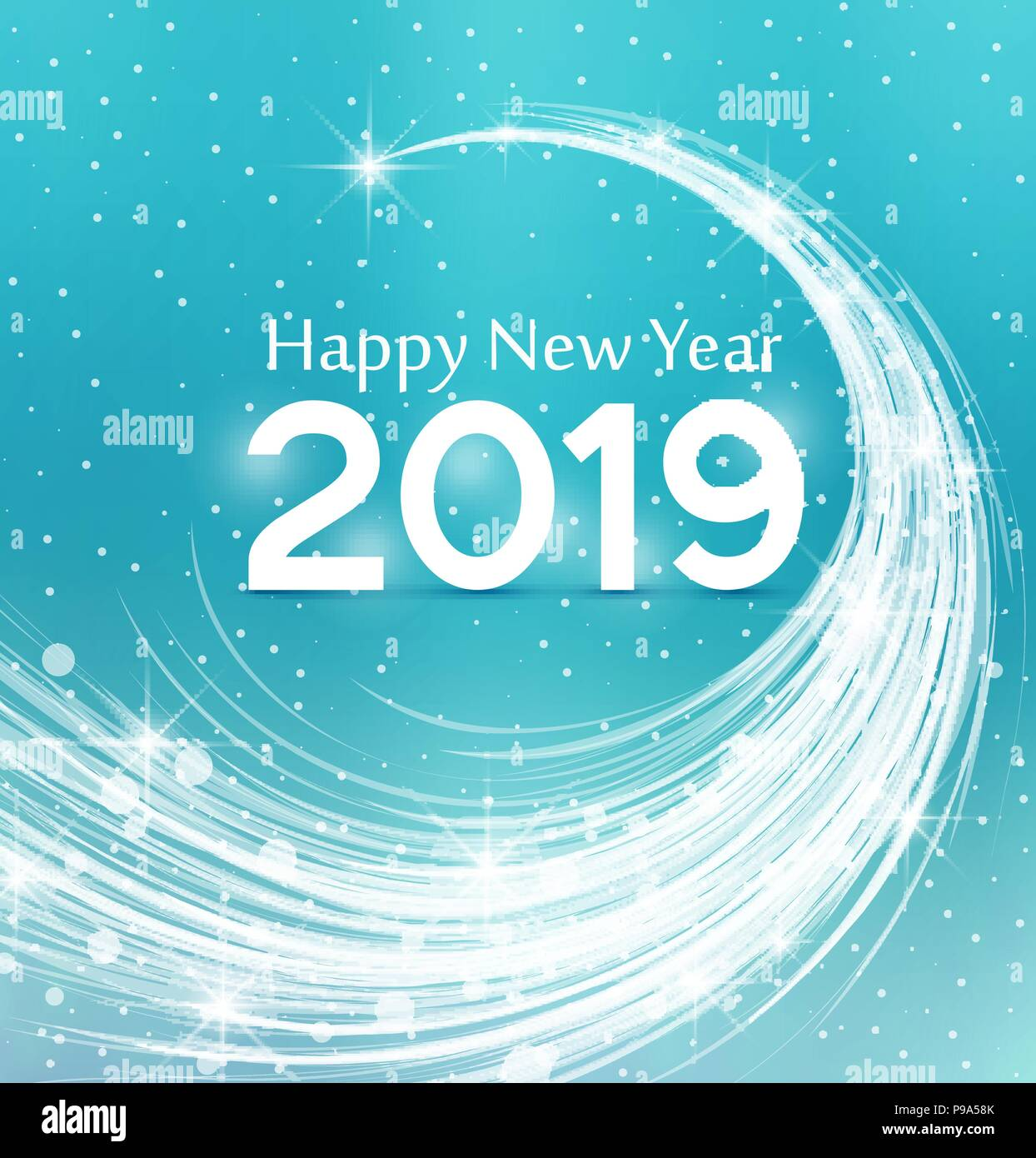 happy new year 2019 vector illustration christmas background
