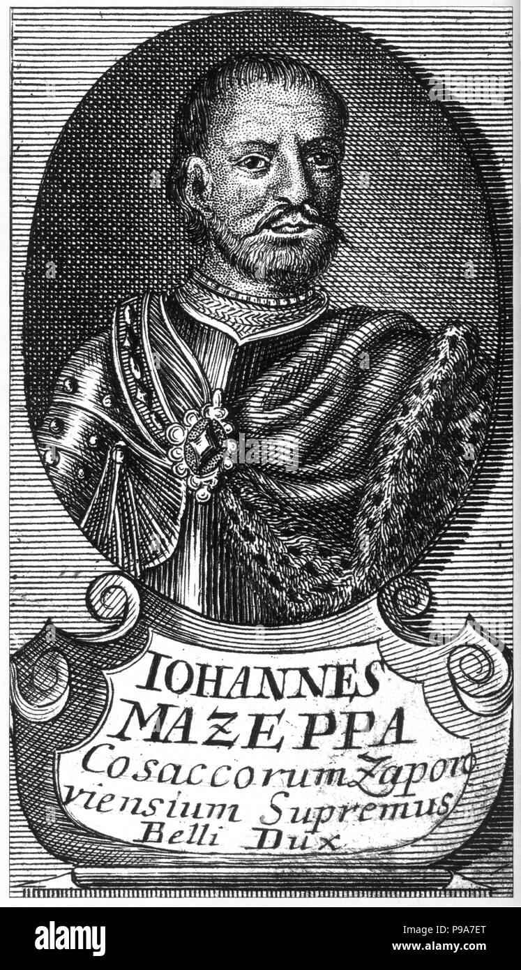 Portrait of the Hetman Ivan Mazepa (1639-1709). Museum: State Open-air Museum 'Battle of Poltava', Poltava. - Stock Image