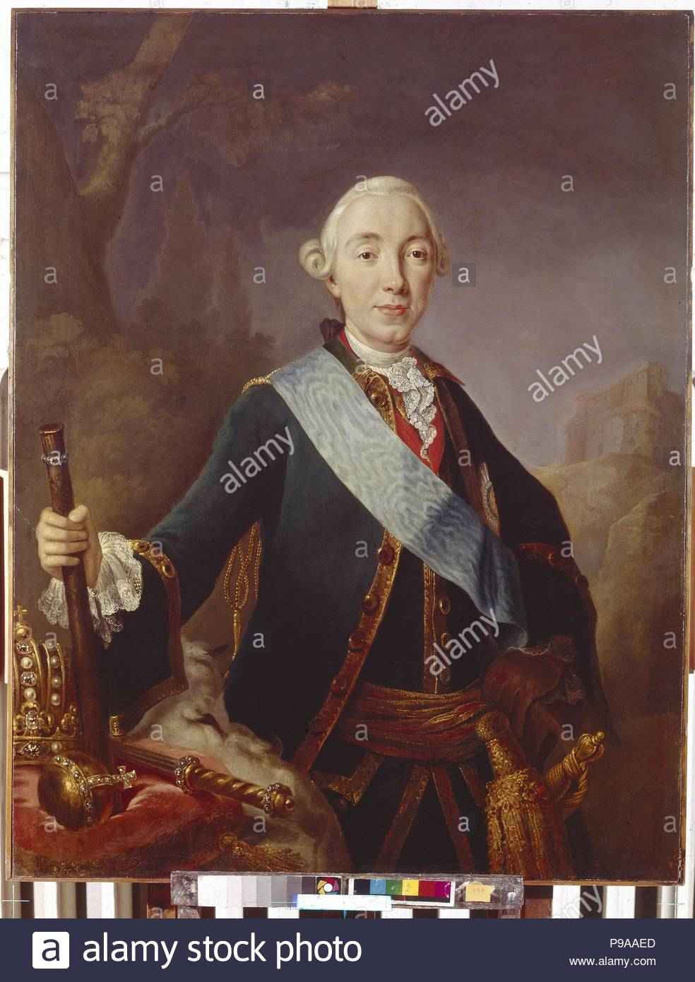 Portrait of the Tsar Peter III of Russia (1728-1762). Museum: State Hermitage, St. Petersburg. - Stock Image
