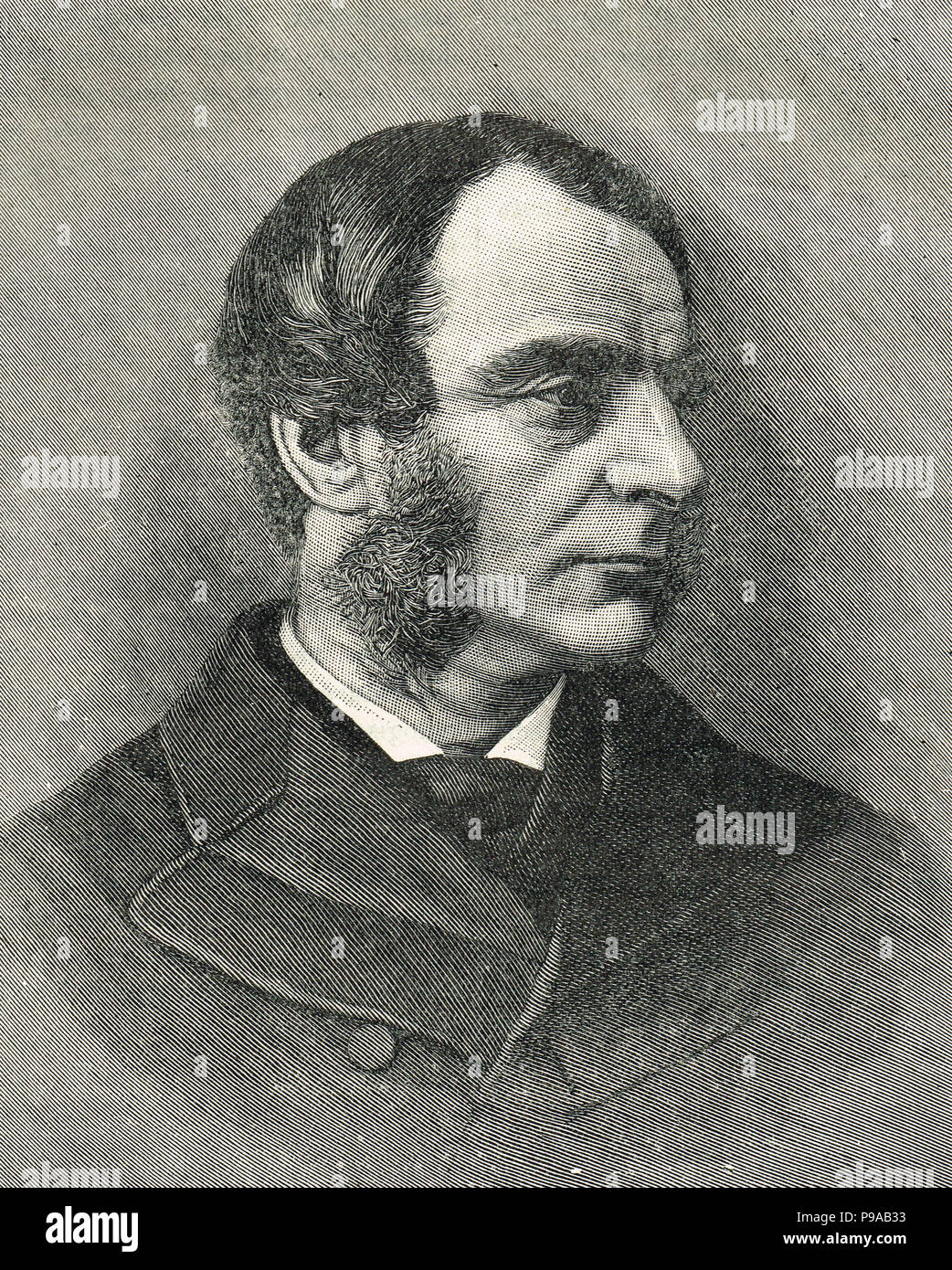 Charles Kingsley, Christian socialist and novelist.  Author of Hereward the Wake, Westward Ho!, and The Water-Babies - Stock Image